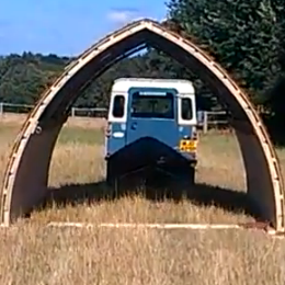 Use a vehicle to tow your field shelter