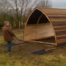 Tow your field shelter by hand