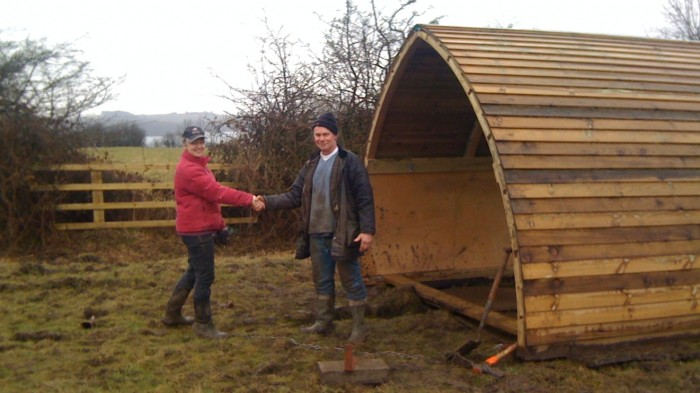 A newly build field shelter